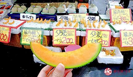 北海道自由行函館一日遊自助旅行,函館朝市賣的哈密瓜