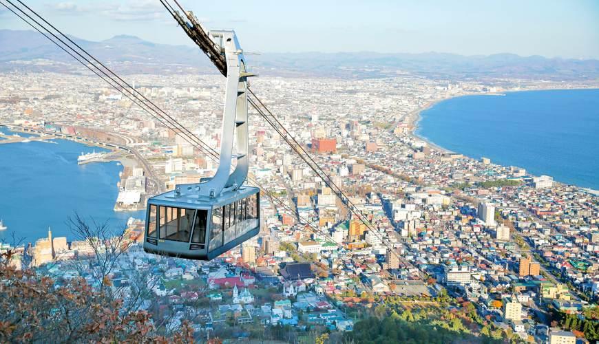 北海道自由行函館一日遊自助旅行,函館市電一日券函館山景色