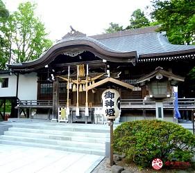 北海道自由行函館一日遊自助旅行,函館的「湯倉神社」的本殿