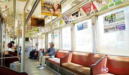 北海道自由行函館一日遊自助旅行,函館市電車車內一景