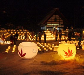札幌自由行冬天必去滑雪景点「定山溪温泉明灯路」