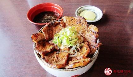 函馆必吃炭火烧烤名店「きくよ食堂 Bay Area店」的驹丘猪肉丼定食(驹ケ丘ポーク豚丼)