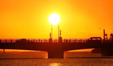 北海道絕景釧路夕陽