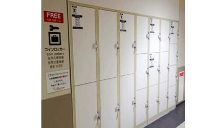 北海道最大三井OUTLET「MITSUI OUTLET PARK 札幌北广岛」的免费置物柜之一