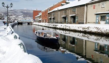 冬季的小樽運河