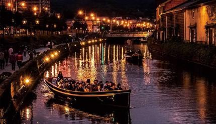 夏季的小樽運河