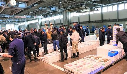 北海道札幌的海鮮批發市場