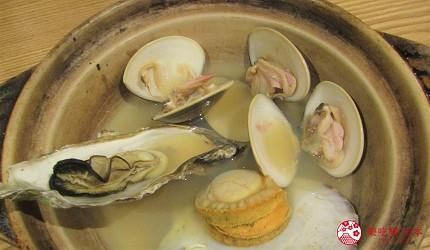 札幌狸小路吃和牛海鮮店「北海道朝市」的「貝類土鍋粥」