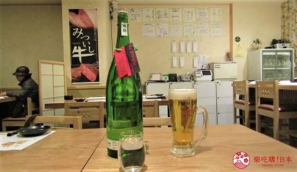 札幌狸小路吃和牛海鮮店「北海道朝市」的日本酒
