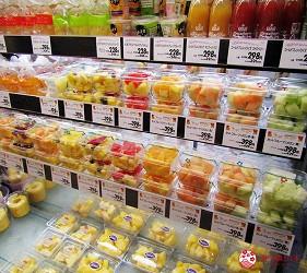北海道札幌最大規模商場「AEON MALL 札幌發寒店」販售的小盒裝水果