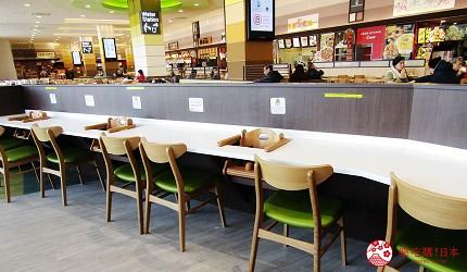 北海道札幌最大規模商場「AEON MALL 札幌發寒店」的餐廳「しゃぶ葉」的座位