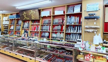 札幌買刀推薦百年刀具專門店「宮文」的店內一景