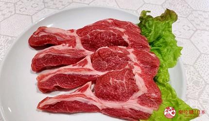 北海道札幌的人气烧肉店「NANKOU园」的生成吉思汗小羊肉