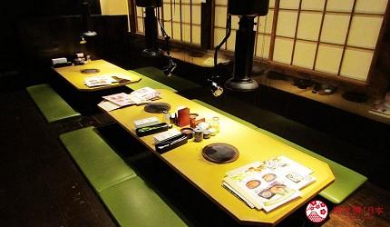 提供包括獨家創作料理、和牛及牛肉稀有部分的「牛角」在北海道分店「牛角札幌站前店」內空間寬闊的舒適座位