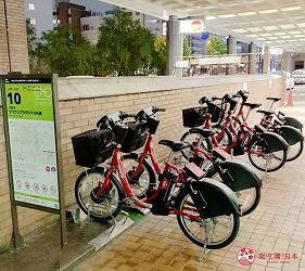北海道札幌住宿推荐札幌ANA皇冠假日酒店内的脚踏车出租