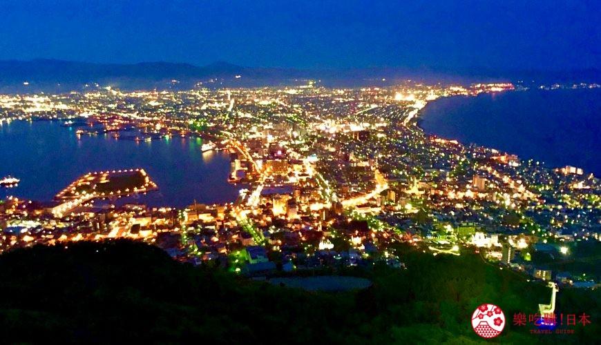 北海道自由行函館一日遊自助旅行,函館的「函館山」百萬夜景