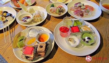 能夠讓你一次吃遍螃蟹、壽司、牛排等100種以上北海道美食的高質量吃到飽自助餐餐廳Premium Live Kitchen 「The Sakura Buffet」內提供的甜點都精緻非常