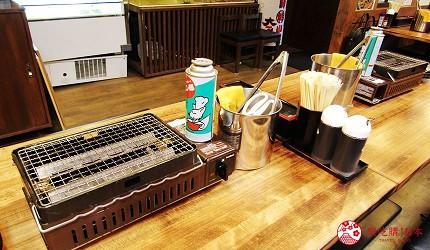 去北海道札幌必去,位于二条市场能一次过食到新鲜肥美海鲜丼、即烧即食生勐海鲜的海鲜专门店海鲜烧小屋「大矶」的店内环境宽阔,每个桌上都有烧海鲜的装备