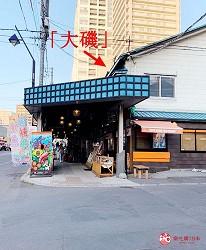 去北海道札幌必去,位于二条市场能一次过食到新鲜肥美海鲜丼、即烧即食烤生勐海鲜的海鲜专门店海鲜烧小屋「大矶」的前往方法