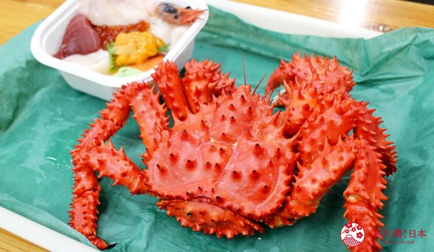 钏路和商市场美食新鲜蒸螃蟹