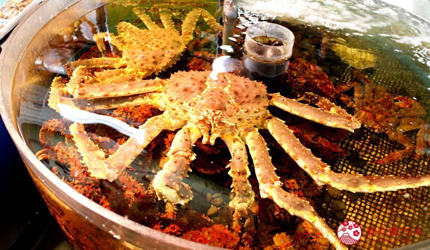钏路和商市场必吃螃蟹