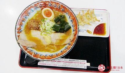 北海道最大三井OUTLET「MITSUI OUTLET PARK 札幌北廣島」的2樓的美食廣場的弟子屈拉麵(弟子屈ラーメン)