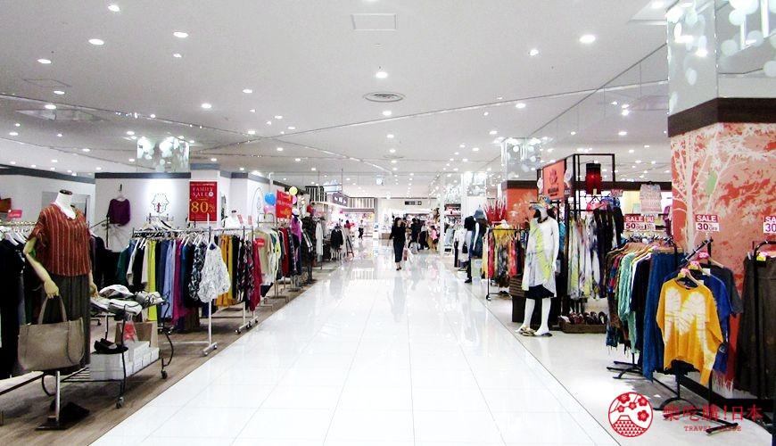 北海道旭川購物推薦必逛永旺夢樂城「AEON MALL 旭川站前」的二樓服裝店鋪