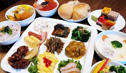 札幌住宿推薦狸小路、二條市場附近「WBF飯店札幌中央」的餐廳提供的早餐