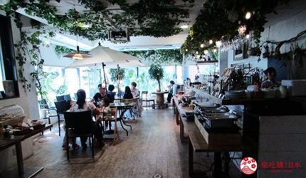 札幌住宿推薦狸小路、二條市場附近「WBF飯店札幌中央」的餐廳是森林風