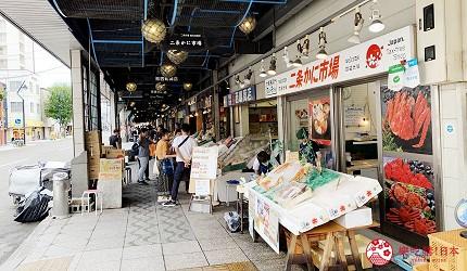 札幌住宿推薦「WBF飯店札幌中央」附近的二條市場