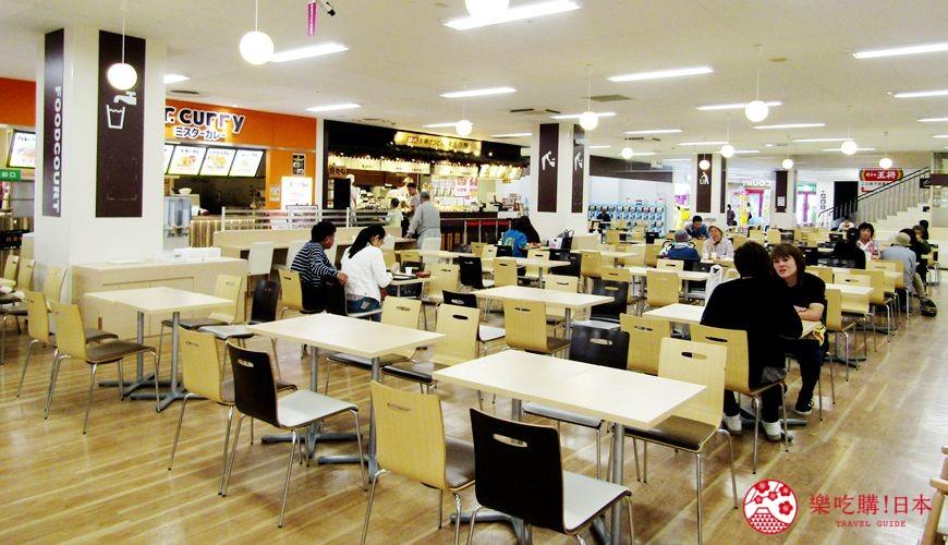 離新千歲機場最近!北海道必逛永旺購物中心「AEON 千歲店」的 AEON 美食區(AEON food court)