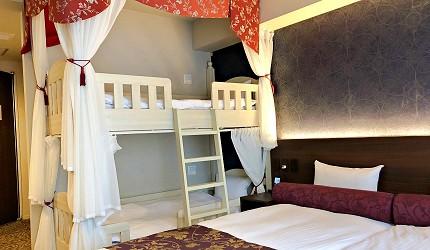 札幌住宿推薦狸小路、二條市場附近「WBF飯店札幌中央」的雙床合併小木屋房