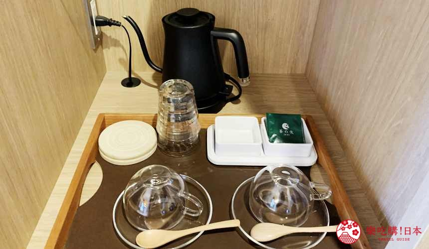 函馆住宿推荐青年旅馆「HakoBA 函馆」的泡茶用具