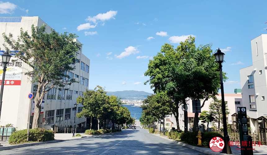函館住宿推薦青年旅館「HakoBA 函館」附近的八幡坂