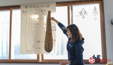 北海道道东四天三夜推荐行程的「罗臼」剪昆布体验