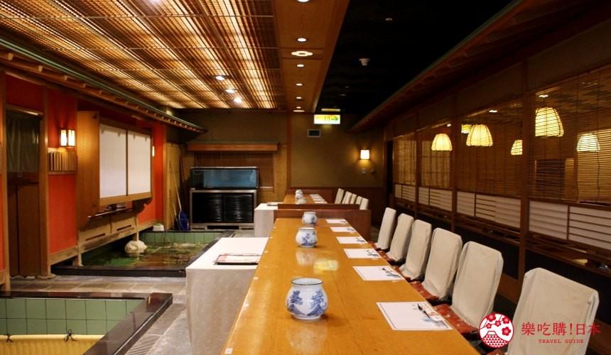 札幌螃蟹必吃推薦「螃蟹家本店」的店內二樓偕樂殿一景