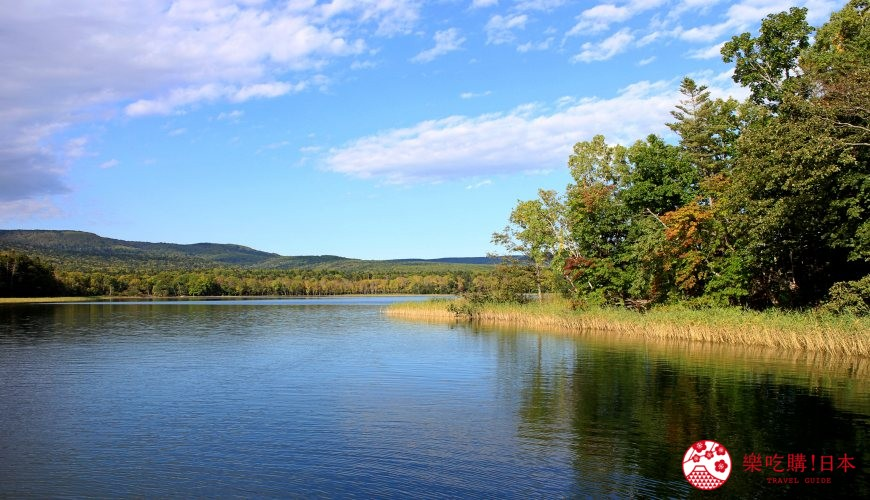 日本北海道自由行推介道東釧路的道東三湖中的阿寒湖的平望湖景