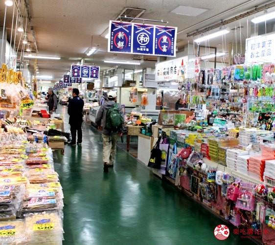 日本北海道自由行推介道東釧路的釧路和商市場內的商店