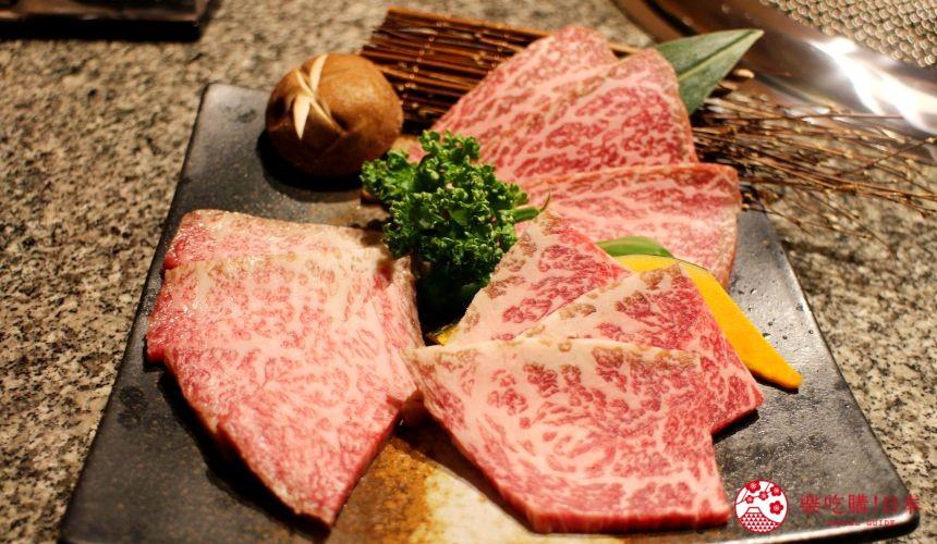 札幌和牛燒肉推薦「和牛黑澤」的白老牛三種稀少部位拼盤(白老牛希少部位3種盛り)小圖