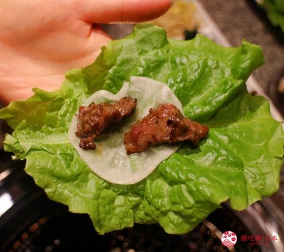 札幌和牛燒肉推薦「和牛黑澤」的牛肉五種拼盤(牛5種大皿盛)的蘿蔔片