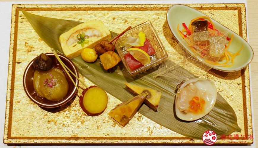 北海道自由行必去札幌食必吃和牛燒肉推薦推介美食店肉割烹八寸的招牌菜當季山海之幸配菜拼盤八寸的擺盤精美