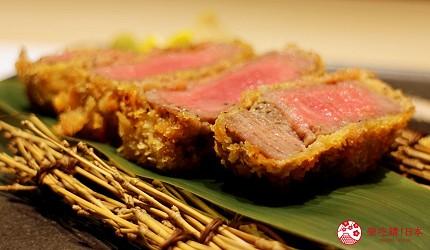 北海道自由行必去札幌食必吃和牛燒肉推薦推介美食店肉割烹八寸的招牌菜炸菲力牛排炸牛扒近鏡