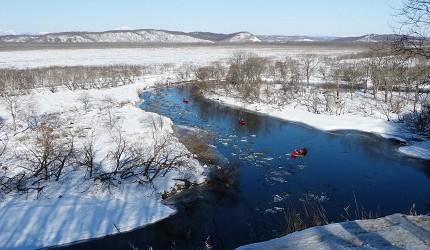 冬季游北海道这样玩!钏路「划独木舟」
