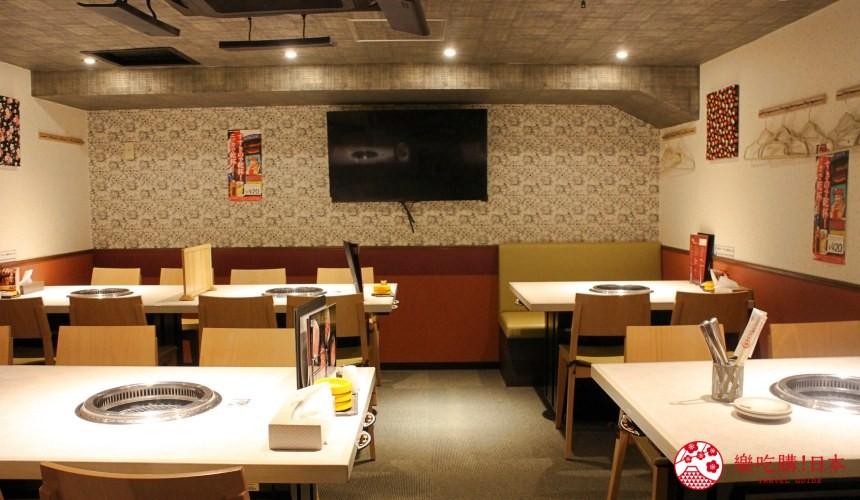 北海道超软嫩烧肉推荐!只用A4高级和牛的札幌人气烤肉店「NANKOU园」的店内地下一楼环境