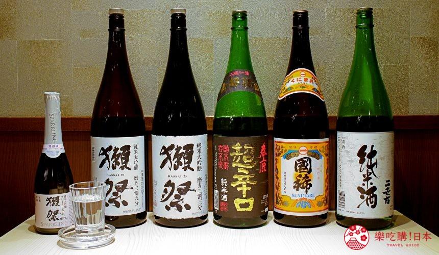 北海道自由行必去札幌食必吃和牛烧肉推荐推介美食店肉割烹八寸店内提供的日本酒