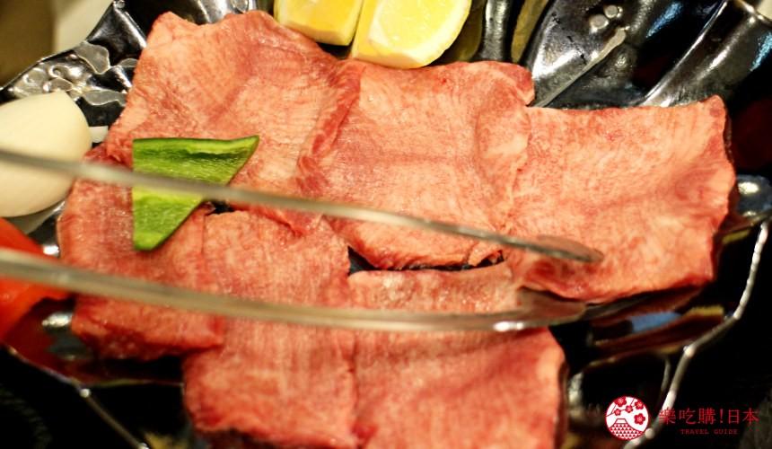 日本北海道自由行美食推薦推介薄野站附近和牛燒肉店BULL店內提供的牛舌一盤有六塊