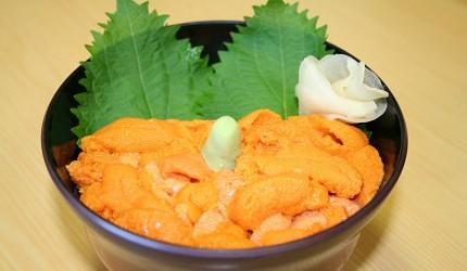 日本北海道最北端的地区稚内市宗谷的地方限定极品超浓厚鲜甜海胆丼饭