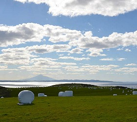 日本北海道最北端的地區稚内市宗谷的北海道遺産宗谷丘陵の周氷河地形
