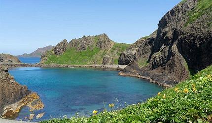 日本北海道最北端的地區稚内市宗谷的禮文島上澄海岬有著高透明度的澄淨海水