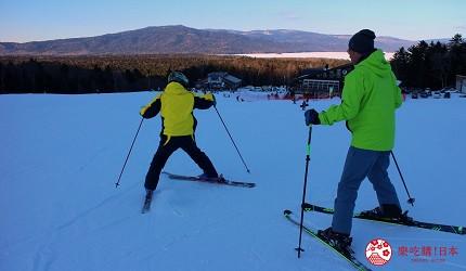 北海道道東三湖必玩雪上活動推薦推介滑粉雪的國設阿寒湖畔滑雪場內的滑雪實拍